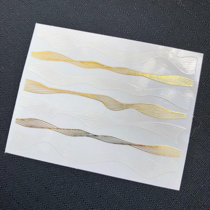 l-волна белый + золото